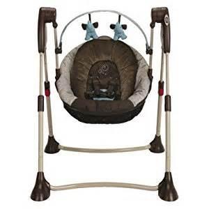 Brown Baby Swing Graco Swing By Me 2 In 1 Portable Swing