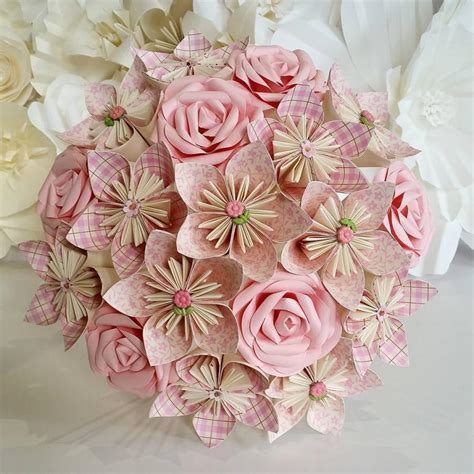 How To Make Paper Flower Wedding Bouquet - paper flowers bouquet origami bridal stationary uk rustic