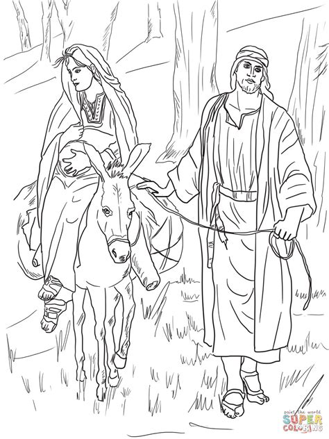 coloring pages mary and joseph bethlehem mary and joseph on the road to bethlehem coloring page