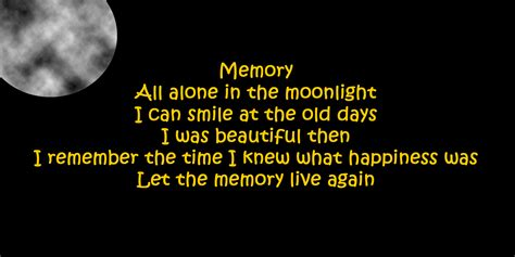 cat lyrics memory sung by elaine as grizabella in cats the musical lyrics by trevor nunn