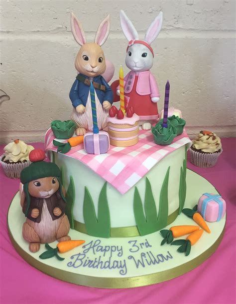 new home cake decorations peter rabbit dessert table cakes by robin