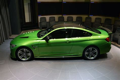 green bmw m4 this bmw m4 java green is packed with extra goodies and
