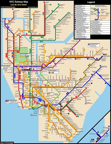 ny city subway map www nycsubway org new york city subway route map by michael calcagno