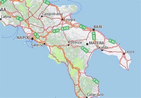 d italia potenza mappa potenza cartina potenza viamichelin