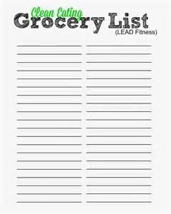 Blank Grocery Shopping List Template Similiar Blank Grocery Checklist Printable Keywords