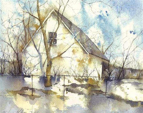 house portrait artist abstract house painting by howard kolsin