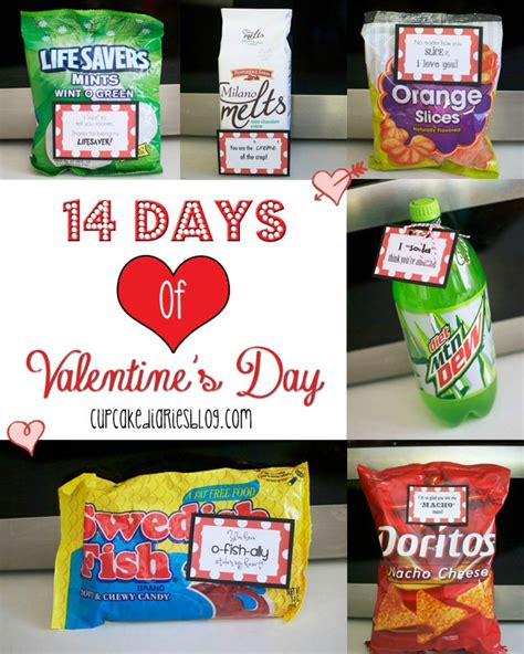 14 days of valentines ideas for 14 days of s day with free printable tags