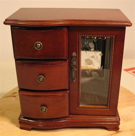 table top jewelry armoire musical jewelry box vintage chest mini armoire table top