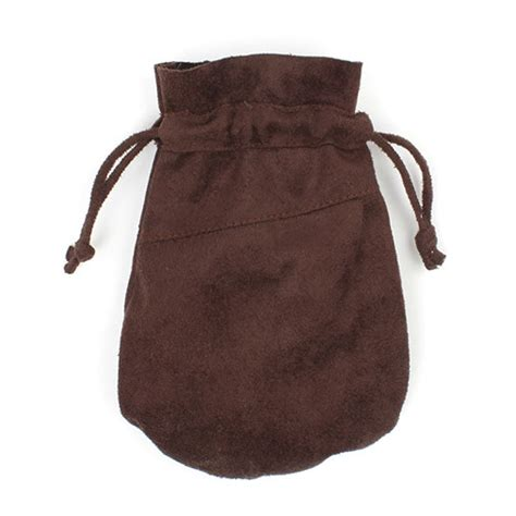 Handmade Bag Suede Lovely faux suede drawstring pouch handmade fair trade from siesta