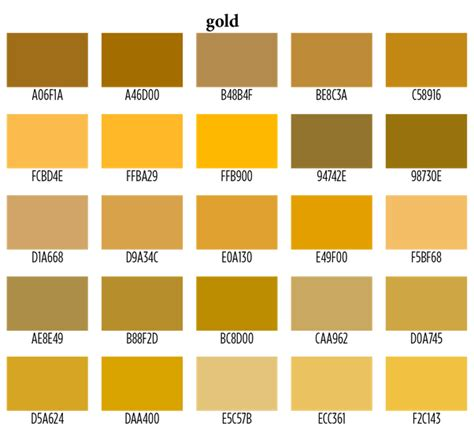 gold color names can go with gold quora