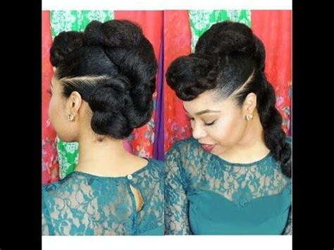 quick updo using kanekalon 9 natural hair updo with kankelon hair protective