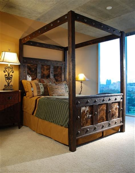 Western Bed Frames Beautiful Western Cowhide Bed Frame