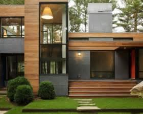 Home Exterior Design Material House Wooden Material Exterior Simple Rectangular Shape