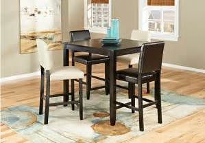 rooms to go dining room sets sunset view espresso 5 pc counter height dining room w