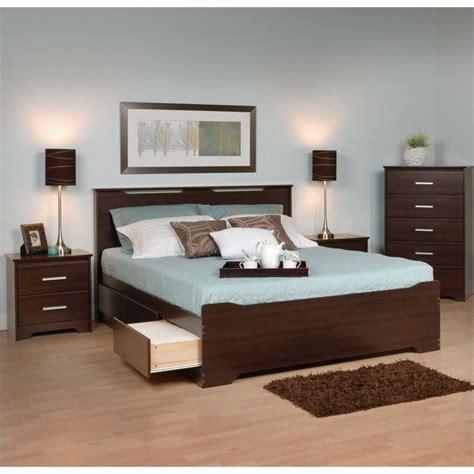 espresso queen bedroom set 4 piece queen bedroom set in espresso ebq 6200 3kv pkg2