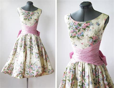 Vintage 50s spring garden party dress by rustbeltthreads on etsy