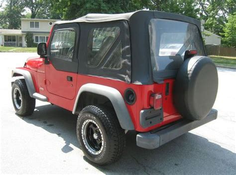 1997 Jeep Manual Buy Used 1997 Jeep Wrangler Tj 4 Cylinder Manual Soft Top
