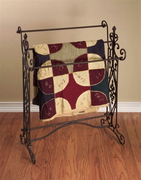 Wrought Iron Quilt Rack by Country Tuscan Brown Wrought Iron Quilt Blanket