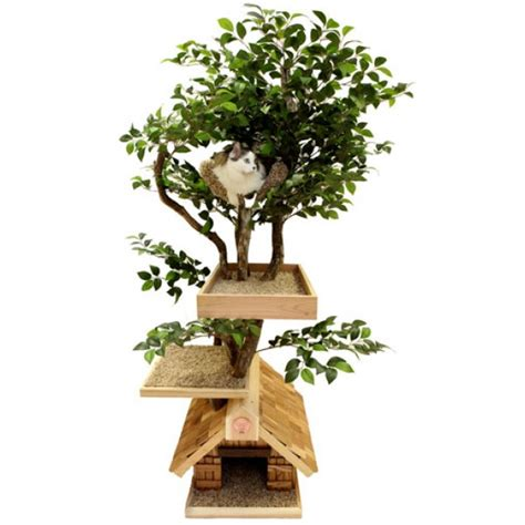 cat tree house lifelike adult medium cat tree house