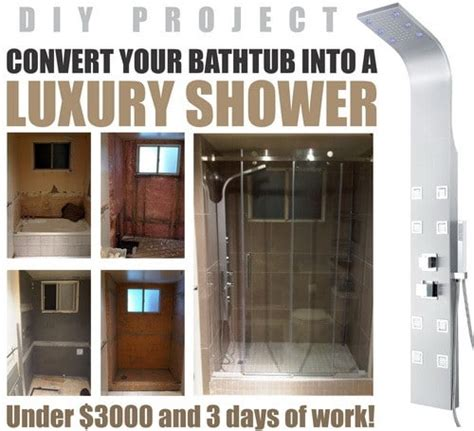 cost to change bathtub to shower how to convert a bathtub into a luxury walk in shower