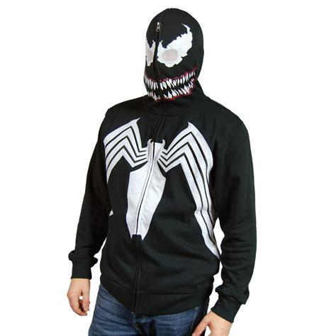 mens marvel venom costume hoodie black