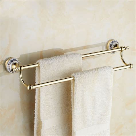 Antique Gold Bathroom Accessories ᑐ60cm Towel Bar ᐃ Towel Towel Rack Bathroom Accessories Antique Gold 2015 2015 Limited
