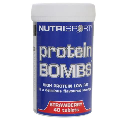 Protein Tablet Nutrisport Protein Bombs Pills 40 Tablets Lozenge Gain