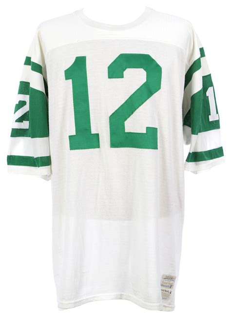 lot detail 1969 1972 joe namath new york jets home jersey