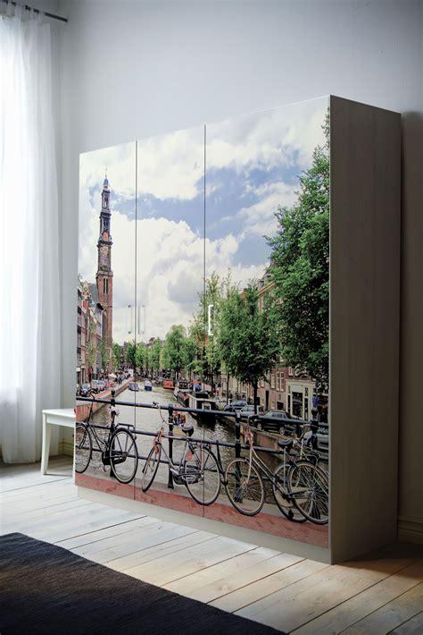 vinilo  armario pax de ikea tu armario  tus fotos una obra de arte en el dormitorio www