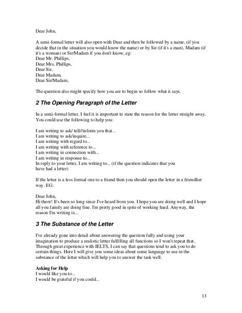 Formal Letter Sle For Ielts Ielts Writing