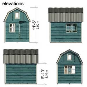 Gambrel Roof Plans gambrel roof shed plans