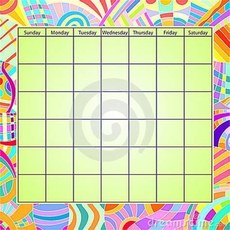 Colorful Calendar Template Stock Photo Image 15759840 Photography Calendar Template