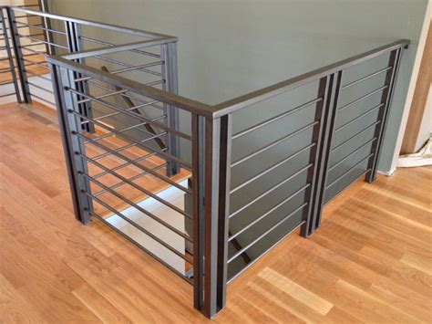 custom modern railing handrail signature metal works