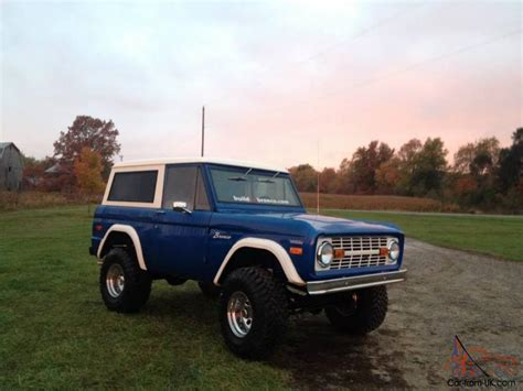 blue bronco 1974 ford bronco blue images