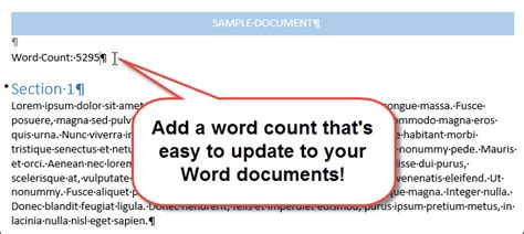 essay structure word count how to insert a word count into your word document