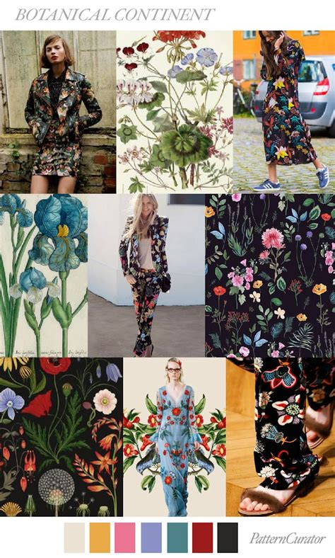 pattern curator themes trends pattern curator botanical continent ss 2018