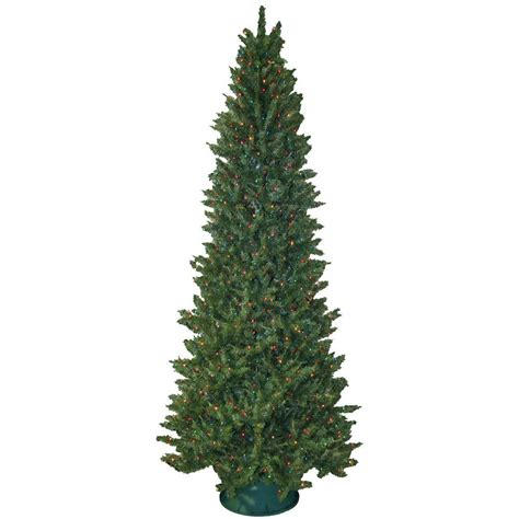 Home Accents Holiday 9 Ft Pre Lit Led Wesley Spruce Quick Multi Color Tree