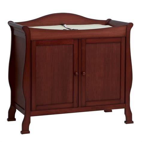 wooden changing table davinci 2door wood changing table in cherry