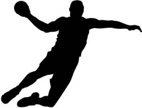 Vinilo silueta jugador balonmano tenvinilo