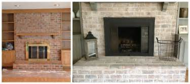 whitewash brick fireplace how to paint a brick fireplace infarrantly creative