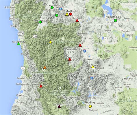 map of s w oregon unhealthy air continues in southwest oregon northern