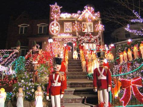 best christmas home decorations in brooklyn deck the house with lots of lights hgtv