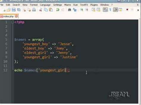 tutorial php variables php tutorial 1 strings variables echo arrays youtube
