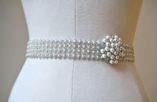 wedding sash floral belt pearl sashes for brides trendy mods