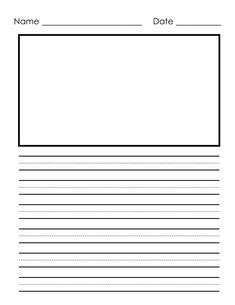 printable journal paper with picture space 1000 images about notebook paper templates on pinterest