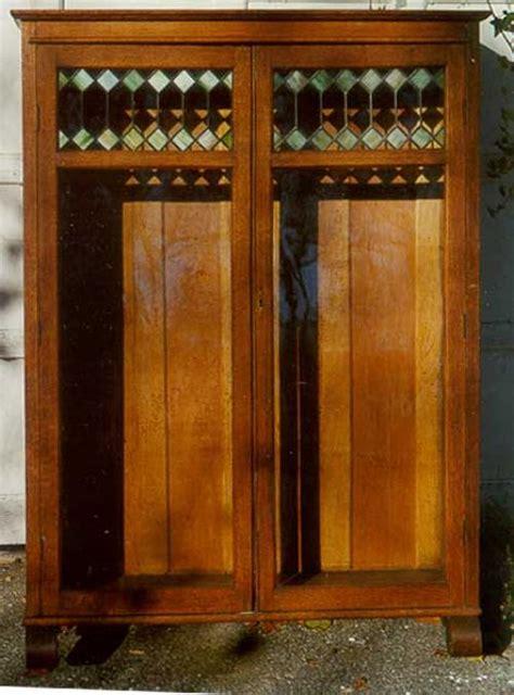 Victorian Oak Bookcase Leaded Glass Doors Oak Bookcases With Glass Doors