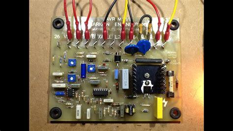 repair   avr automatic voltage regulator pcb youtube