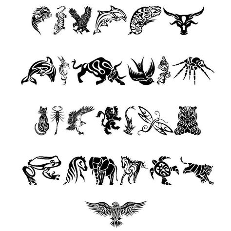 tattoo ideas animals tribal animals designs dingbats tattoowoo