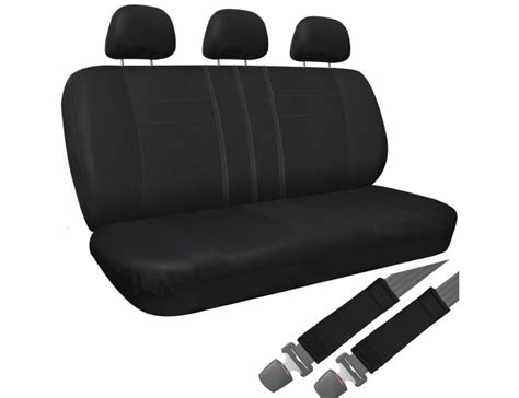 solid bench seat covers bench seat cover solid black