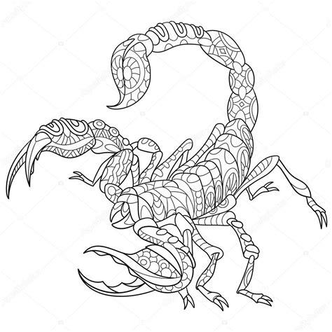 zentangle stilisiert scorpio stockvektor 108380356
